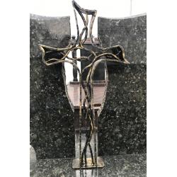Duży krzyż kuty - ciemne złoto