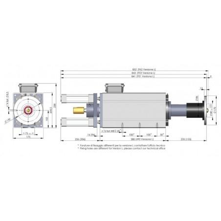 silnik 3-fazowy dwubiegowy VEM do frezowania i polerowania kamienia